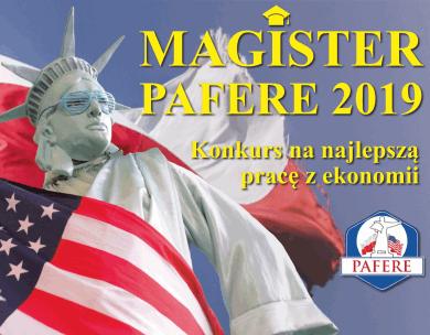Magister PAFERE 2019 - konkurs na prace z ekonomii